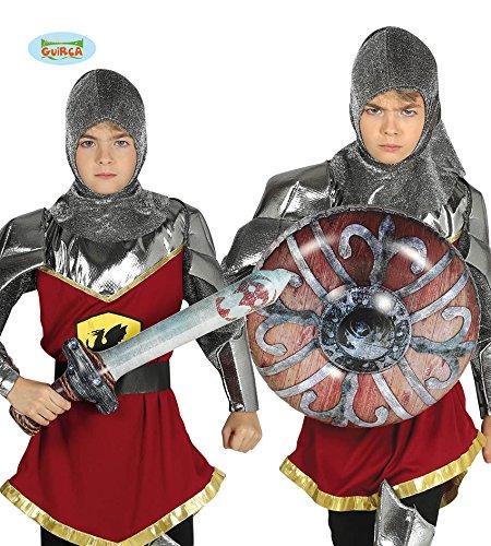 Guirca Set aufblasbares Ritterschwert und Schild Kinder Zubehör Karneval Fasching ()