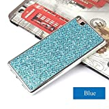 Galaxy Note 4 Glitter Case,Bling Case for Samsung Galaxy Note 4,Leeook Luxury Creative Shiny Slim Fit Thin Flexible Gold Soft Gel Bumper Protective Tpu Rubber Case Cover for Samsung Galaxy Note 4+ 1 x Black Stylus-Blue Glitter