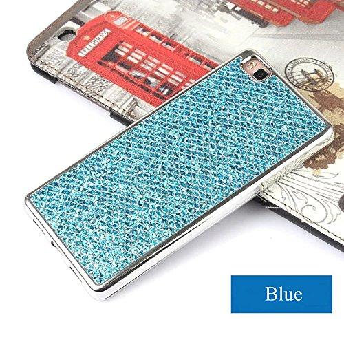 Preisvergleich Produktbild Galaxy S5 Mini Glitzer Handyhülle, Silikon Hülle für Samsung Galaxy S5 Mini, Leeook Luxus Stylish Glänzend Kristall Glitzer Strass Schutz HandyHülle Blau Slim Bling Weich Gel Silicone Rückseite Hülle TPU Tasche Schale Bumper Ultradünn Flexibel Schutzhülle für Samsung Galaxy S5 Mini + 1 x Schwarz Eingabestift-Blue Glitzer