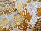 Gold Damast Print Stoff Material Vorhang Polster Baumwolle