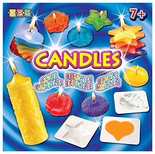 MAMMUT 8171023 - Crafts Bastelset, Kerzen, Komplettset mit Kerzenwachsgranulat, Stäbchen, 13 Formen, Färbemittel, Duftstoffe und weiterem Zubehör, Kerzen gießen, für Kinder ab 7 Jahre