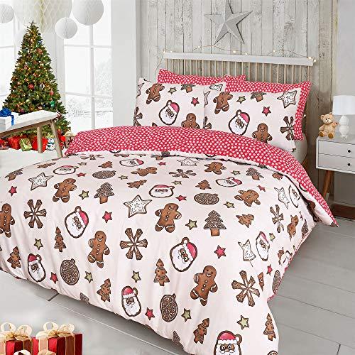 Amor mode modern xmas christmas cookies festive set copripiumino con federe di trapunta set da letto reversibile in policotone, king