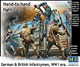 Masterbox 1:35 Scale Hand to Hand Fight/German and British Infantrymen/WWI Construction Kit (Grey)