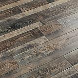 Suelo de madera laminado pisos retro personalizados antigüedad haga el viejo piso tienda de ropa azulejos de piso piso de la cafetería-C