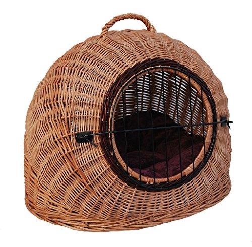 1-3-K Katzen-Transportkorb von GalaDis (55 x 45 x 45 cm) + 1 Kissen, abnehmbares Gitter, Katzenkorb o. Katzenhöhle / Hundekorb / Hunde-Transportkorb f. kleine Hunde (Größe : Large)