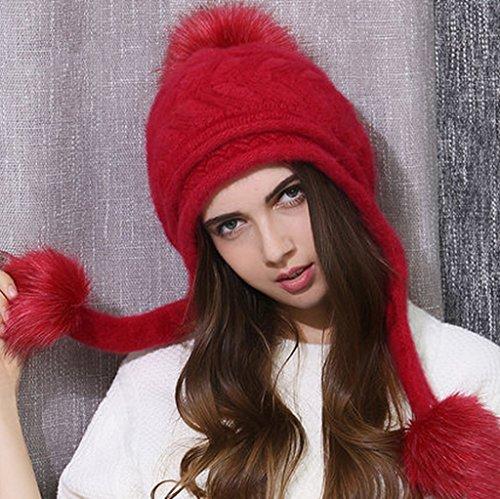 Chapeau Hiver Femme Hiver Personnalité Charmant Automne Et Hiver Chapeau Double Couche ( couleur : 5# ) # 3
