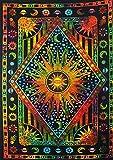 FUTURE HANDMADE mandala multi color Sun Moon Tie Dye doppia parete arazzo arazzo hippie Tapestry Wall Hanging mandala Beach throw boho arazzi Bohemien Dimensioni 205,7x 139,7cm