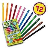 JOLLY Supersticks DELTA | Dreikantstifte | Personalisierbar mit Namen | Bruchfest (12 Stifte)