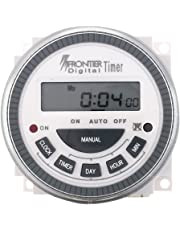TSKTECH Digital Timer Programmable Controller TM619 4PIN 30AMP Timer Switch Type: Frontier Euro Replaceable Battery with Connecting Thimbles
