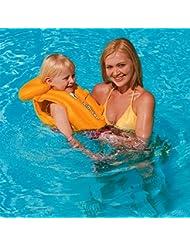 Bestway Bouée gonflable haute sécurité pour entraînement natation & Veste Gilet de sauvetage à 6 ans-Jaune