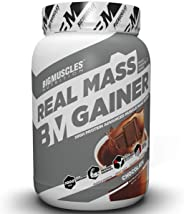 Bigmuscles Nutrition Real Mass Gainer [1Kg, Chocolate], Lean Whey Protein Muscle Mass Gainer, Complex Carbohydrates,1000 Calo