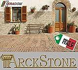 ARCKSTONE Piastrella Mattonella Rivestimento Gres Porcellanato Effetto Muretto Mattoncino Mattone Incastro Keradom Argille Sabbia 16x40 cm