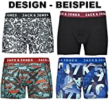 JACK & JONES Boxershorts 4er Pack Mix Trunks Boxer Short Unterhose S,M,L,XL,XXL, Mehrfarbig, M