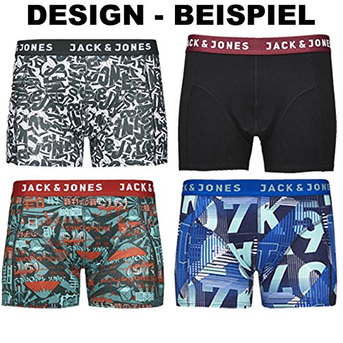 JACK & JONES Boxershorts 4er Pack Mix Trunks Boxer Short Unterhose S,M,L,XL,XXL, Mehrfarbig, M