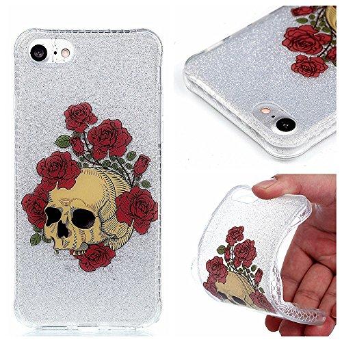 Ooboom® iPhone 6S/6 Plus Coque TPU Silicone Housse Absorption des Chocs Étui Cover Case Bumper Protection Goutte pour iPhone 6S/6 Plus - Attrapeur de Rêves Renard Crâne Rose