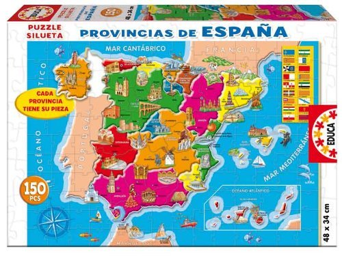 Province of Spain Puzzle 150 pieces 48 x 34 cm by Educa