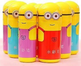 Jiada Cartoon Shape Pencil Box Having Sketch Pen/Stationary Kit - 12 Pens | Birthday Party Return Gift for Kids (10 case)