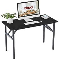 Need Klapptisch Computertisch Schreibtisch Klassischer Klappbarer Tisch 120CM aus Holzwerkstoffen und Metallframe…