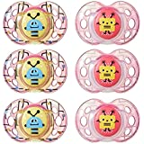 Tommee Tippee Closer to Nature Fun Style Soothie Baby Pacifier, 6-18 Months - Unisex, 6 Pack