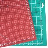 Sew Easy Schneidematte 62,1 x 45,7 cm (A2), selbstheilend, mit Hilfslinien, schont Klingen, Schneide- und Arbeitsunterlage, Bastel-Matte, Nähunterlage (rot/grün)
