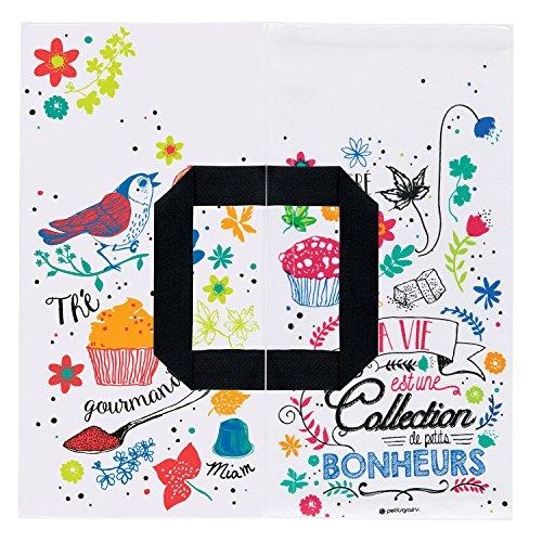 Sac de transport à Tarte en Coton Imprimé Quiche Gâteaux - DLP Derrière La Porte (Collection de Petits Bonheurs)