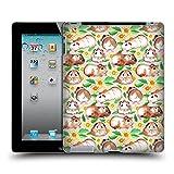 Offizielle Micklyn Le Feuvre Meerschweinchen Und Gänseblümchen Und Aquarell Muster 2 Ruckseite Hülle für iPad 2 (2011)