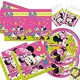 Minnie Happy Helpers Partyset 53 Teile für 16 Kinder Teller Becher Servietten Tischdecke
