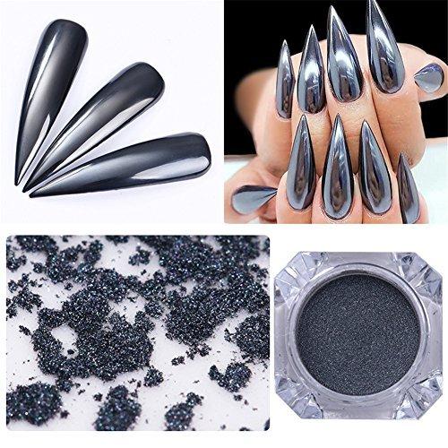Nails Art & Werkzeuge Schönheit & Gesundheit 1 Box Nagel Pulver Bunte Glänzende Nail Art Chrome Pigment Schwarz Basis Benötigt Chameleon Wirkung Nagel Dekoration Glänzende Pulver