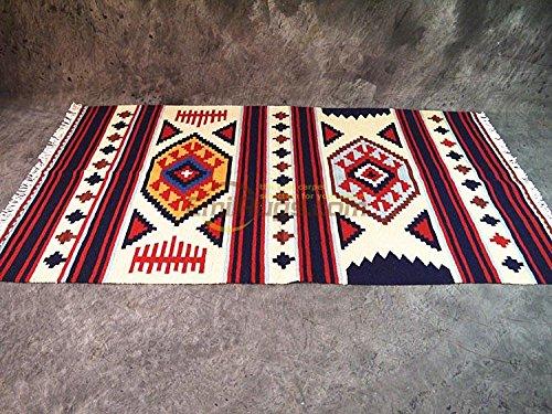 GRENSS Wachow style/Izmir/Navajo/Wandteppich Teppich Kelim decke Sattel/pad Indiana gc 137-19 yg 4.950 mm x 1.550 mm (Sattel-pads Und Decken)