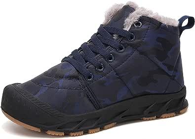 siphly Enfants Bottes De Neige dhiver Chaussures De Coton Chaudes Et De Velours Bottes De Neige Filles Bottes De Neige Gar/çons