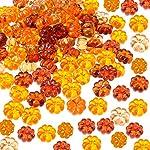 110 Pezzi Mini Zucche in Acrilico Tavolo Zucca Scatter per Halloween Ringraziamento Decorazione