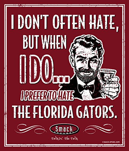 Smack Apparel Georgia Fußball-Fans. Metallschild I Prefer to Hate Florida, 30,5 x 35,6 cm -
