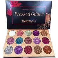 Beauty Glazed Palette di Ombretti Glitter,15 Colori Shimmer Ultra Pigmentato Trucco Ombretto In Polvere Impermeabile a…