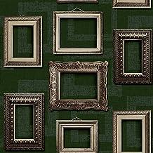 Muriva l35104 Vintage marcos papel pintado – verde