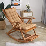 Indoor Outdoor Patio High Seat Back Chair Cushion For Rocking Chair With Ties,thick Padded Chaise Lounger Swing Bench Cushion
