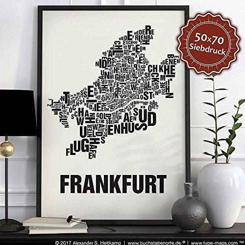 Frankfurt Buchstabenort Schwarz auf Naturweiß