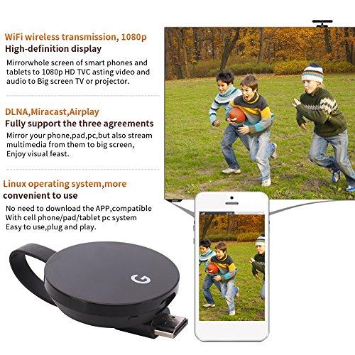 LONSUN Wireless WiFi Display Dongle TV Empfänger Adapter 1080P Full HD Unterstützung Google Chromecast für Miracast Airplay DLNA TV Stick für Android / Mac / IOS / Windows … - 7