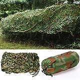 Yaheetech Woodland Camo Net Camouflage Net Tarnnetz für Jagd Camping in Größen S/M/L