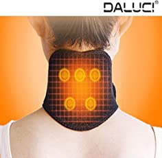 DALUCI 1Pc Tourmaline Therapy Neck Protection Self-Heating Headache Belt Neck Massager