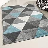 mynes Home Teppich Kurzflor Türkis Jugendzimmer Skandi Skandinavisches Design Modern Kurzflorteppich Moderner Designerteppich (80 x 150 cm)