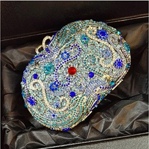 Borsa Da Pranzo Di Diamanti Delle Donne Borsa Di Lusso Di Diamanti Di Banchetto A
