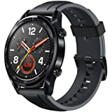 Huawei Watch GT Sport Smartwatch (46 mm Amoled pekskärm, GPS, fitness tracker, pulsmätare, 5 ATM vattentät) svart