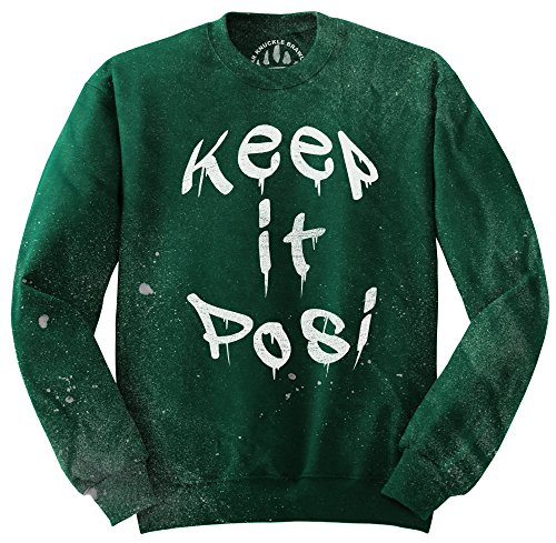 Orso Knuckle combattenti Maglione Fashion - BKB Keep It Posi Kelly Green Small