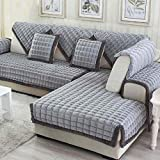 MEHE@ Romantik stilvoll Persönlichkeit kreativ Dickes einfaches modernes Sofa-Kissen-Winter-lederner Sofa-Kissen-Sofa-Sets Sofa-Tücher-Sofa-Abdeckung Sofa-Überwürfe (größe : 110 * 160cm)