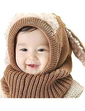 Cadiyo Baby Mädchen Jungen Winter Mütze Schal Earflap Hood Schal Skull Caps