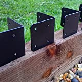 Raised Bed Brackets Railway sleepers planters Garden  Inc Coach Screws!