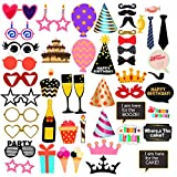 #10: PARTY PROPZ BIRTHDAY PHOTOBOOTH SET OF 50/ PHOTOBOOTH PROPS/ PHOTOBOOTH SUPPLIES