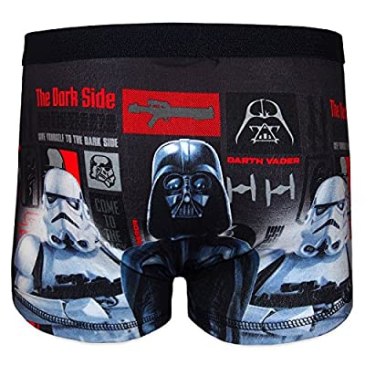 Star Wars officiel - Boxer pour garçon- motif Dark Vador - noir