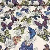 Polsterstoff Dekostoff 0,5lfm 148cm breit Muster Butterfly