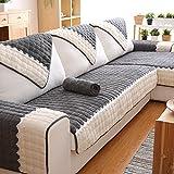 J&DSSU Sofa bezug Baumwolle Volltonfarbe Sofabezug 1-teilige Rutschfeste Schmutzabweisend Maschine waschbar Couchbezug Für 1 2 3 4 Sofa-grau 90x160cm(35x63inch)
